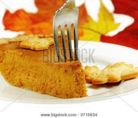 Pumpkin Pie With A Fork
