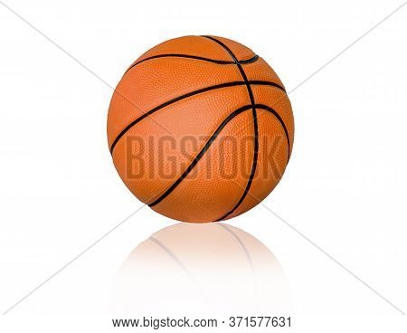 Basketball Ball Over White Background. Basketball Ball!
