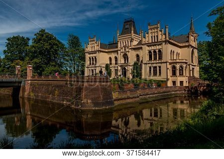 Evenburg Castle In Leer In The Sunshine