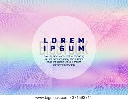 Stylish Presentation Holographic Gradient Vector Template. Abstract Wallpaper With Holo Texture. Flu