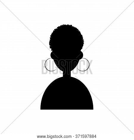 Afro Girl Icon Vector Illustration On White Background. Cartoon Portrait Of A Afro Girl. Avatar Char