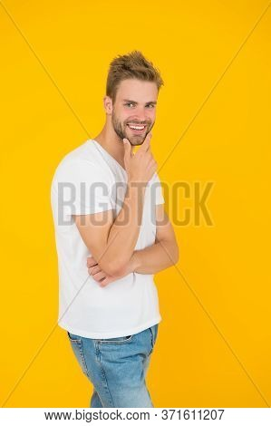 Face Expression. Emotional Means Alive. Psychology Concept. Emotional Handsome Guy. Sexy Handsome Co