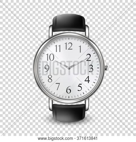 3d Vector Realistic Golden Classic Vintage Unisex Wrist Watch Icon Closeup Isolated On Transparent B