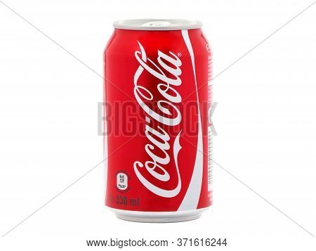 Bucharest, Romania - December 22, 2016. Can Of Coca-cola Isolated On White Background. Coca-cola Is