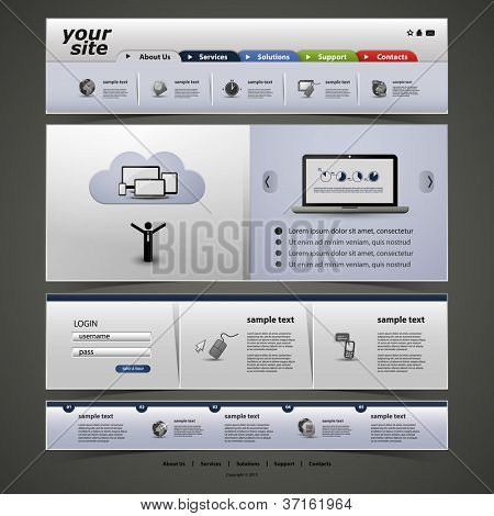 Website Template poster
