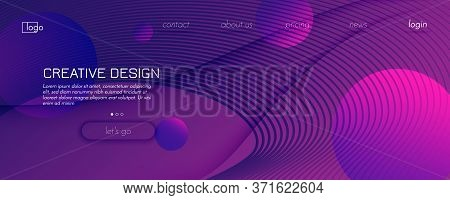 Fluid Background. Abstract Flow Shapes Landing Page. Wave Geometric Pattern. Color Minimal Magazine.