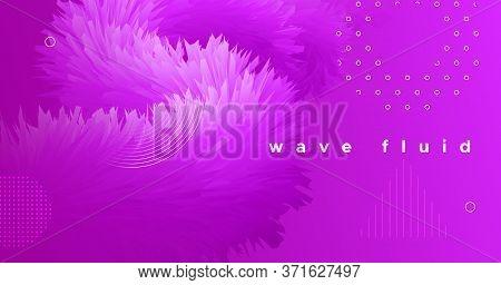 3d Movement. Wave Flyer. Pink Graphic Wallpaper. Vector Geometric Shapes. Vibrant Motion. 3d Movemen
