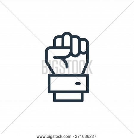 raise hand icon isolated on white background from  collection. raise hand icon trendy and modern rai