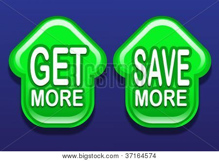 Get More / Save More Arrows Up