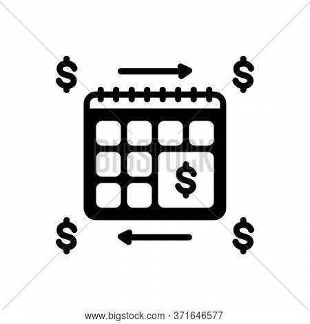 Black Solid Icon For Annuities Annuity  Financial Revenue Currency Exchange Calender Yearly