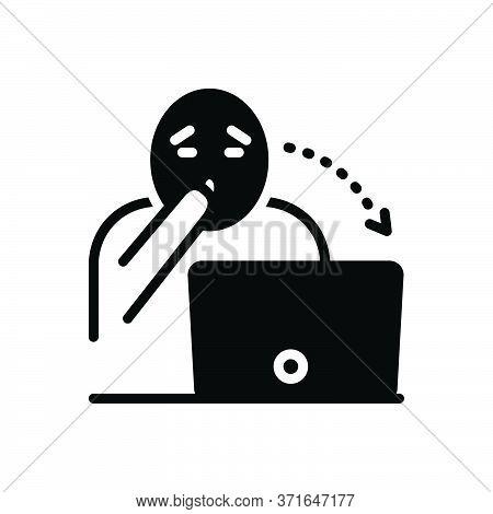 Black Solid Icon For Astounding Astonish  Surprised  Shocked Astound Daze Dazzle Laptop
