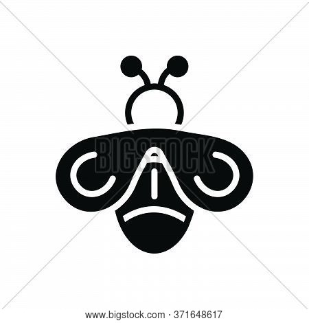 Black Solid Icon For Fly Drake Blowfly Housefly Insect Dross Bee