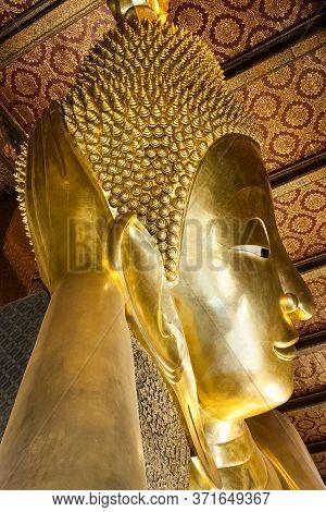 Bangkok - 20 April: Wat Pho Facade On April 20 2016 In Bangkok, Thailand. Reclining Buddha At Wat Ph