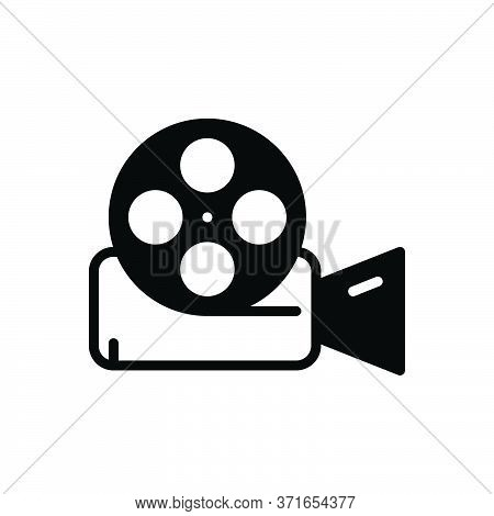 Black Solid Icon For Video-reel Video Reel  Film  Entertainment  Videocamera Technology