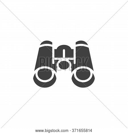 Binocular Vector Icon. Filled Flat Sign For Mobile Concept And Web Design. Binocular Glyph Icon. Spy