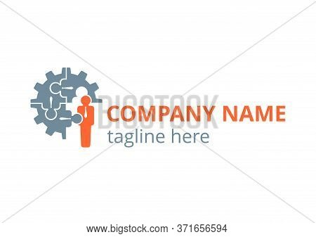 Human Resources (hr Company) Or Team Work (working Solutions) Logo Template - Circular Emblem With P