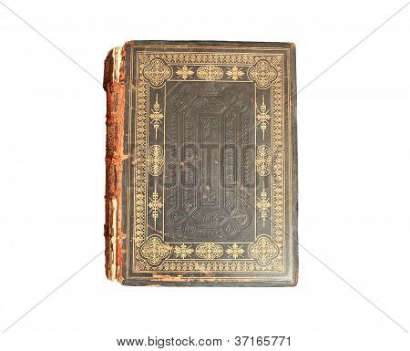 Old bible isolated on white