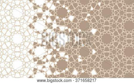 Arabesque Disintegration Border Pattern, Background. Arabesque Disintegration Background.