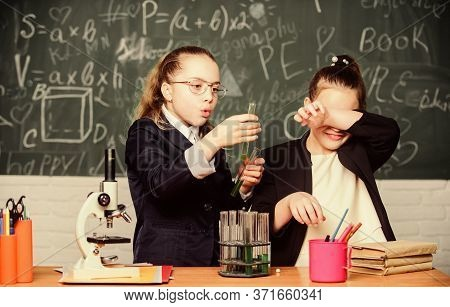 Basic Knowledge Of Chemistry. Girls Study Chemistry. Make Studying Chemistry Interesting. Educationa