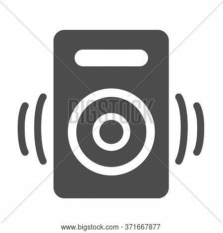 Speaker Solid Icon, Media Concept, Audio Speaker Sign On White Background, Sound From Speaker Icon I