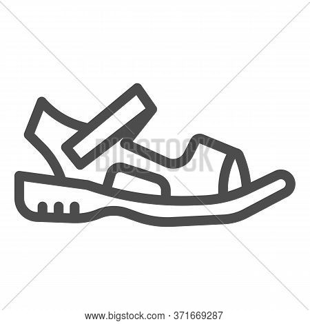 Sandals Line Icon, Summer Shoes Concept, Sandal Sign On White Background, Light Summer Shoe Icon In