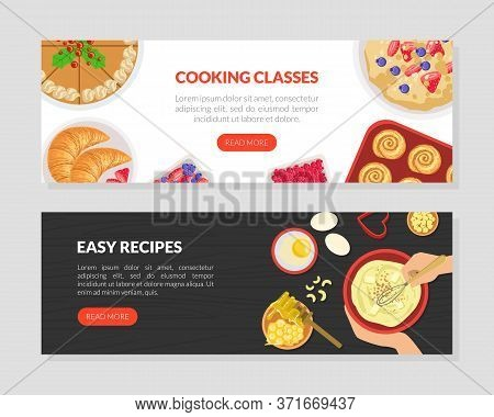 Cooking Classes, Tasty Easy Recipes Landing Page Templates Set, Cooking Course, Tasty Recipes, Onlin
