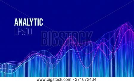 Abstract Finance Analytic Background. Business Research. Financial Technology. Vector Financial Char