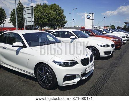 Cardiff, Uk: June 02, 2020: Bmw Car Dealership On Penarth Road In Cardiff. Bmw Is A German Multinati