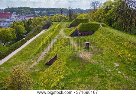 View Of The Historical Fortifications On The Gradowa Mountain In The Gdansk. Poland.