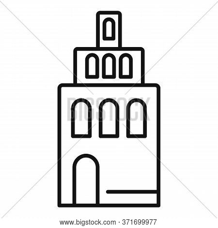 Riga Building Tower Icon. Outline Riga Building Tower Vector Icon For Web Design Isolated On White B