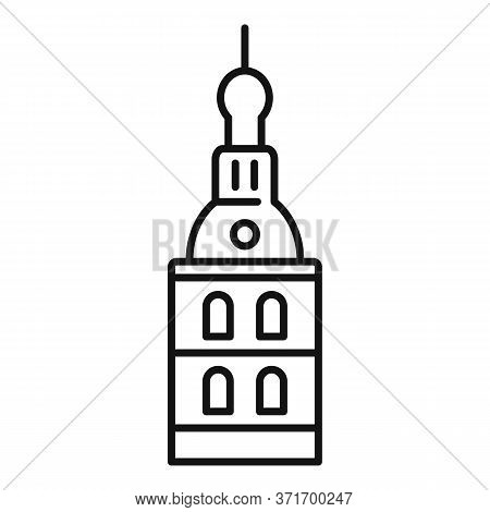 Riga Cathedral Icon. Outline Riga Cathedral Vector Icon For Web Design Isolated On White Background