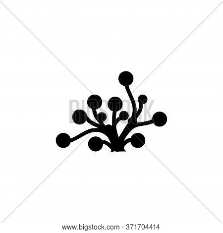 Underwater Seaweed. Aquatic Marine Algae Plant. Flat Vector Icon Illustration. Simple Black Symbol O