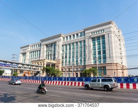 New Ministry Of Justice Office Building Chaengwattana Bangkok Thailand-25 December 2018:new Ministry