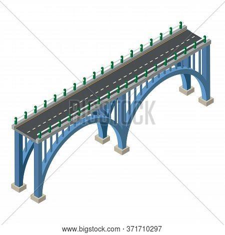Road Bridge Icon. Isometric Of Road Bridge Vector Icon For Web Design Isolated On White Background