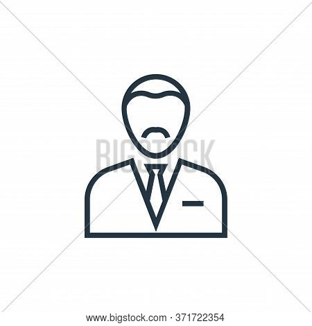 accountant icon isolated on white background from  collection. accountant icon trendy and modern acc