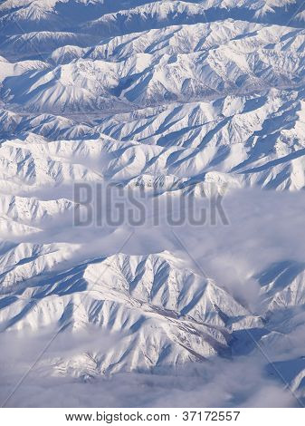 Over The New Zealand's Southern Alps