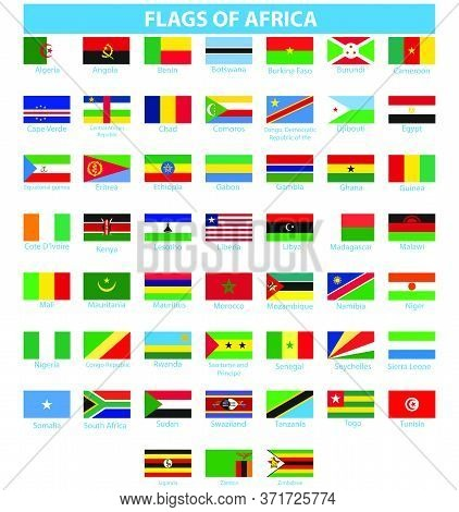 Flag Of Africa  Africa Flag Vector Nigeria Isolated
