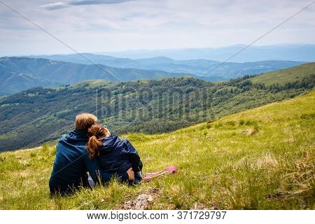 Traveling Outdoor Hiking In Nature. Traveling In Nature. Couple Travel Outdoor In Nature. Nature. Tr