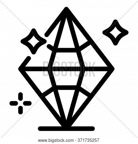Brilliant Diamond Icon. Outline Brilliant Diamond Vector Icon For Web Design Isolated On White Backg