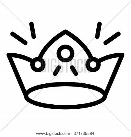 Shiny Crown Icon. Outline Shiny Crown Vector Icon For Web Design Isolated On White Background