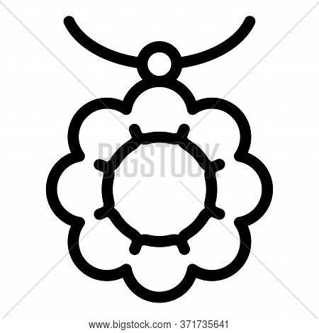 Necklace Accessory Icon. Outline Necklace Accessory Vector Icon For Web Design Isolated On White Bac