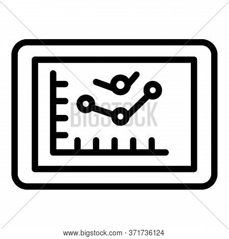 Purchasing Graphic Icon. Outline Purchasing Graphic Vector Icon For Web Design Isolated On White Bac