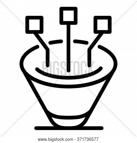 Sales Funnel Icon. Outline Sales Funnel Vector Icon For Web Design Isolated On White Background