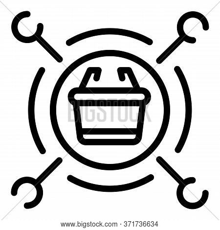 Sales Advantages Icon. Outline Sales Advantages Vector Icon For Web Design Isolated On White Backgro