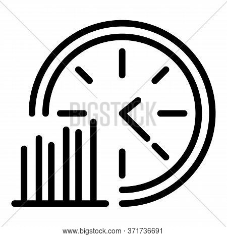 Time Graph Evolution Icon. Outline Time Graph Evolution Vector Icon For Web Design Isolated On White