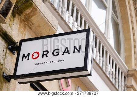 Bordeaux , Aquitaine / France - 05 05 2020 : Morgan Store Front Shop Logo  In Store Street