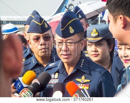Royal Thai Air Force Don Muang Bangkok Thailand-12 January 2019:air Commander Air Chief Marshal Chai
