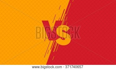 Versus Screen Flat Modern Design, Fight Headline On The Background Of The Grid Against Each Other ,