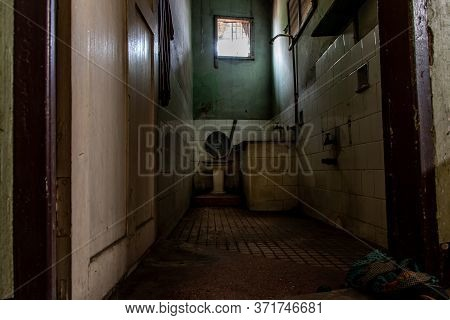 Bangkok, Thailand - Jan 19, 2020 : Abandoned Old Toilet To Deteriorate Over Time, Abandoned House, D