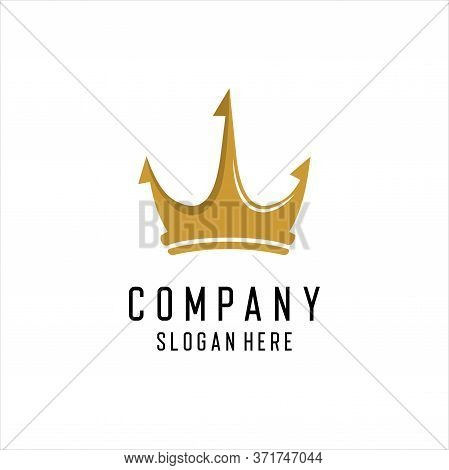 Crown Logo Icon Vector Design, Vector Logo Of Crown, Royal Luxury Crown Icon